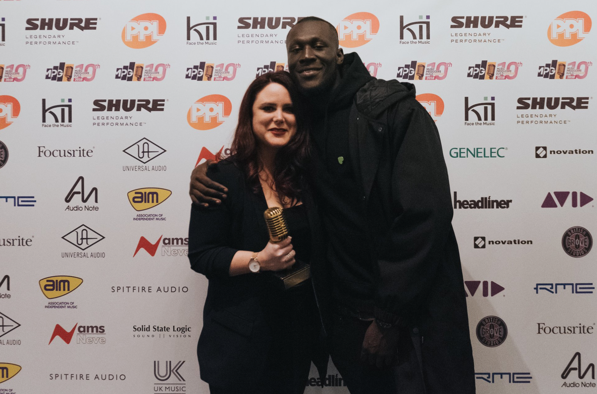Stormzy drops by to present Manon Grandjean with her MPG Award.